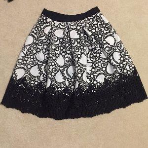 Ann Taylor Petite Tulip Lace Full Skirt